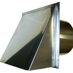 Kitchen Exhaust Vent Cover Restaurant Doors 10 Inch Stainless Wall Mount Range