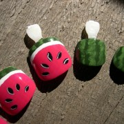 fun watermelon summer nail art