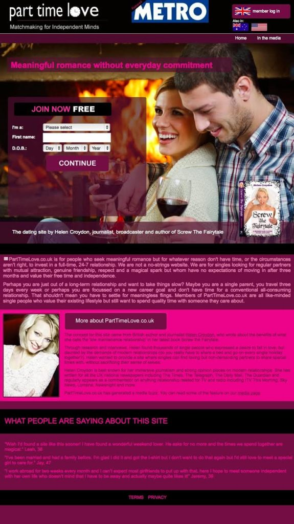 Part-time love dating website