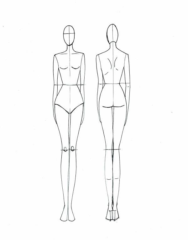 Fashion Croquis on Pinterest Fashion Templates Female