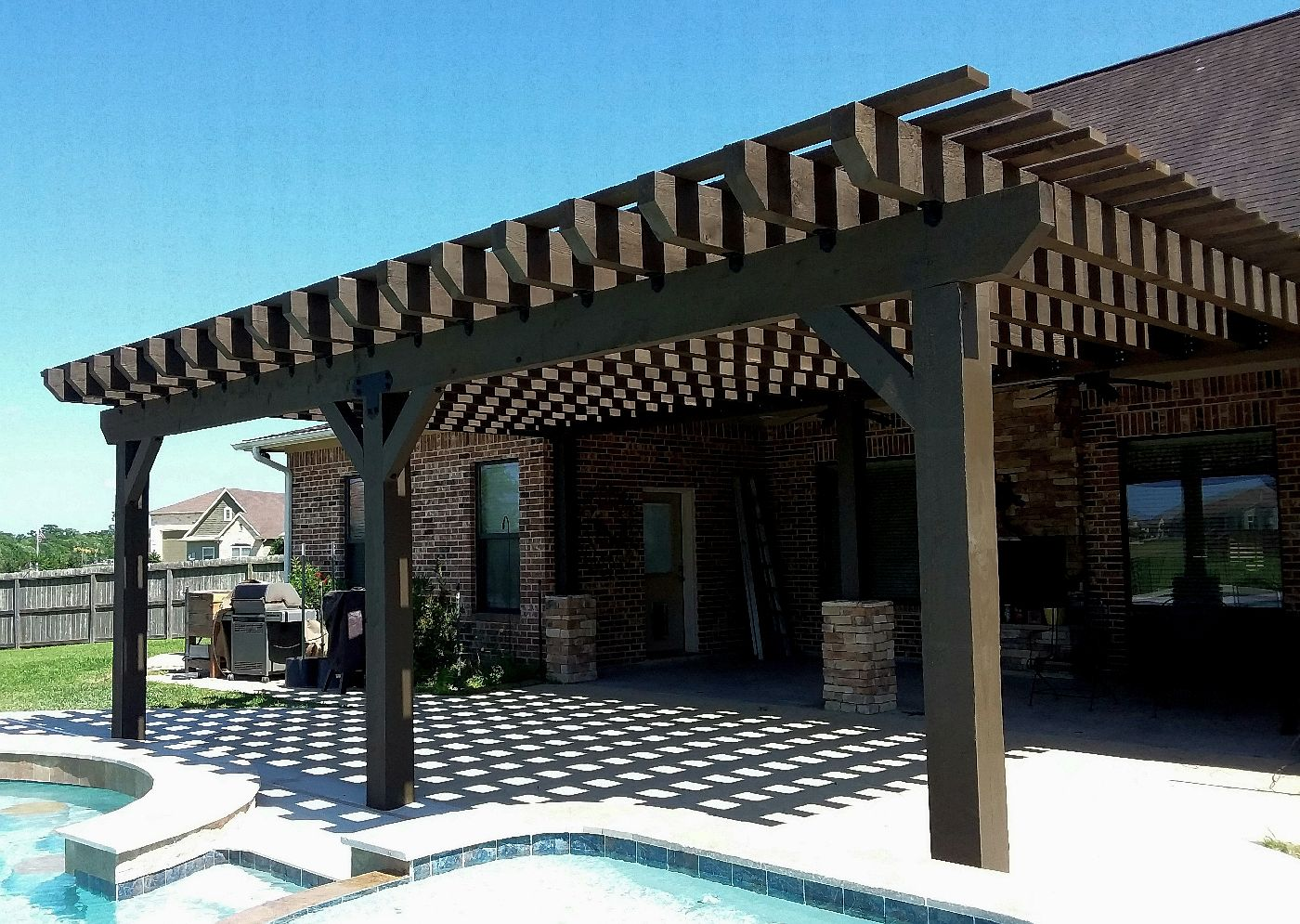Pergolas Authentic Houston Palapa Contractor Tropical