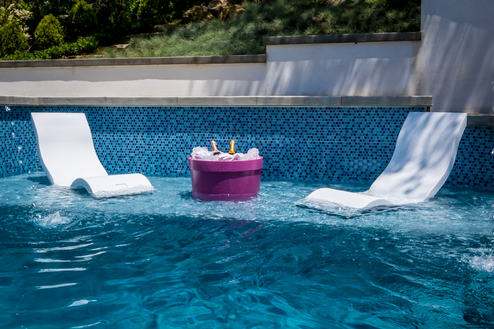 what are pool chairs made out of for tall people ledge lounger the ultimate in water furniture luxury pools durable polyethylene is resistant to harsh chemicals saltwater uv rays and weathering it s safe all