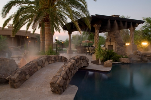 outdoor misting systems luxury pools