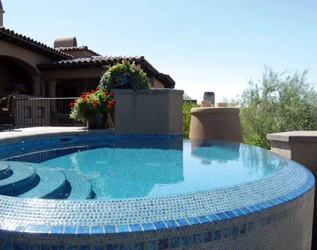 pool tile options glass porcelain