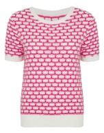 Best Of British - Pink & White Textured Jumper