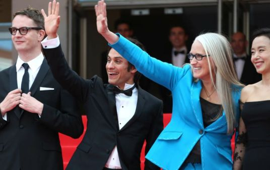 "Cannes 2014 - La montée des marches de ""Grace de Monaco"" Jane Campion et Gael Garcia Bernal, membres du jury. Photo : SIPA"