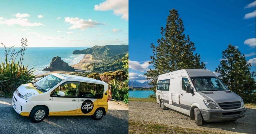Examples of Campervans - Motorhome & Campervan Hire - New Zealand - Luxury Travel Hacks
