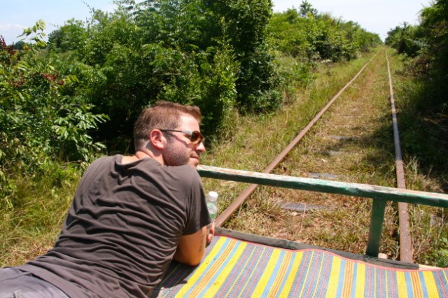 bamboo train, battambang, cambodia holiday