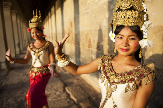aspara dancers cambodia holiday