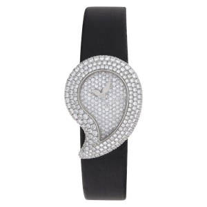 Chopard casmir 43/6700 18k White Gold Pave dial 24mm Quartz watch