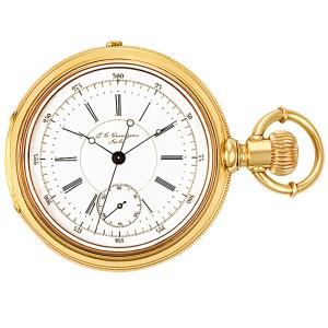 Grandjean pocket watch 1833 18k White dial 55mm Manual watch