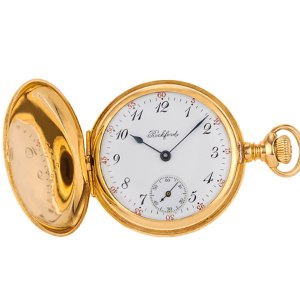 Rockford pocket watch  14k white porcelain dial 33mm Manual watch