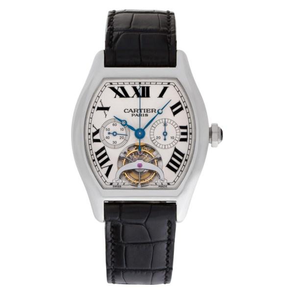 Cartier Tortue XL Platinum Tourbillon Chronograph mono poussoir Mono Pusher