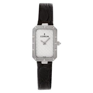 Corum 24 706 59 18k White Gold Silver dial 20mm Quartz watch