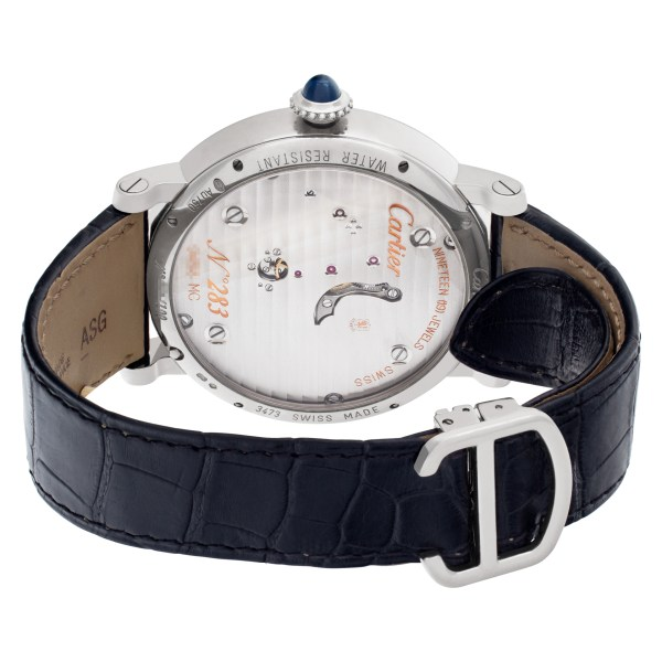 Cartier Rotonde W1556214 18k White Gold Skeleton dial 46.2mm Manual watch