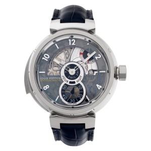 Louis Vuitton Tambour LV 40 18k white gold 44mm Manual watch