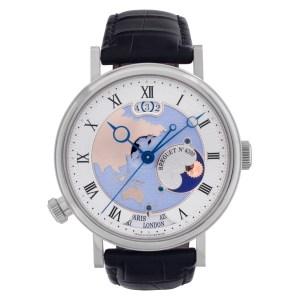 Breguet Classique Hora Mundi 5717PT Platinum Silver dial 43mm Automatic watch
