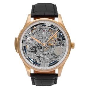 IWC Portuguese IW524101 18k rose gold Skeleton dial 43mm Manual watch