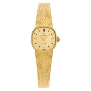 Lucien Picard Classic xxx 14k Gold dial 17mm Quartz watch