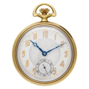 Hamilton pocket watch 14k Silver dial 45mm Manual watch