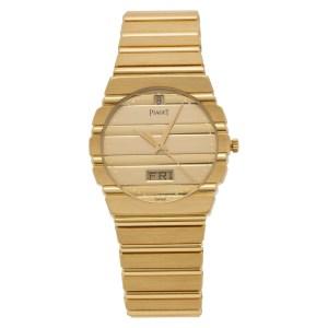 Piaget Polo 15562C701 18k Gold dial mm Quartz watch