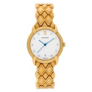 Chaumet Classic 18k Gold White diamond dial 32mm Quartz watch