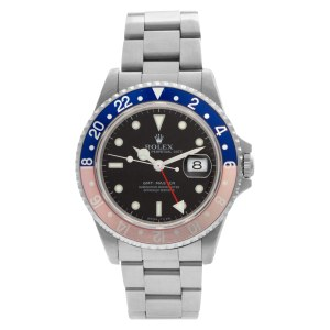 """Rolex GMT-Master """"pepsi"""" 16700 Stainless Steel Black dial 40mm Automatic watch"""
