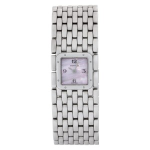 Cartier Ruban W61001T9 Stainless Steel Mother of Pearl dial 21.5mm Quartz watch