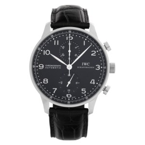 IWC Chronograph IW371491 Stainless Steel Navy dial 40mm Automatic watch