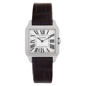 Cartier Santos Dumont W2009451 18k white gold 31mm Quartz watch