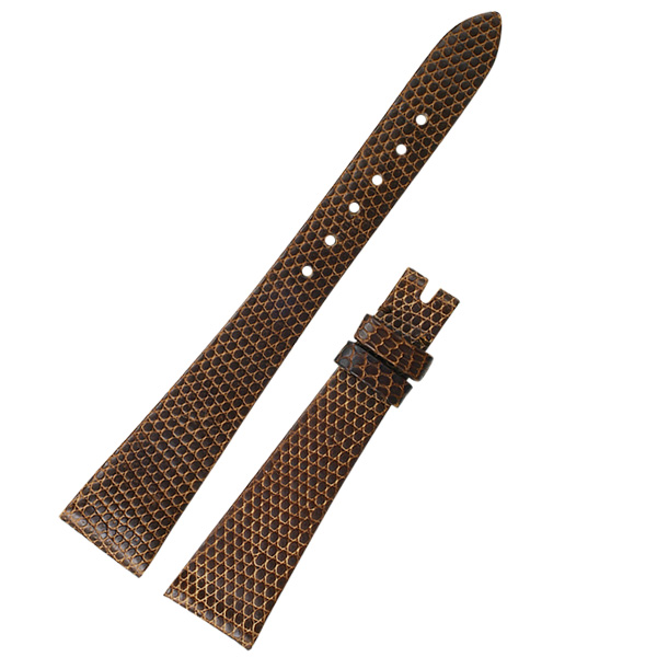 Ladies Rolex dark brown lizard strap (16x10)
