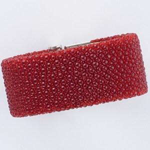 de GRISOGONO red string ray strap for LIPSTICK model, 28mm