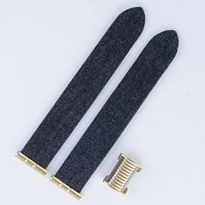 "Boucheron Solis grey fabric 17mm by lug end 3.5"" in length"