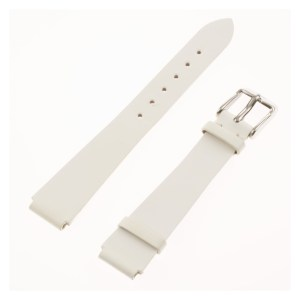 TechnoMarine white pleather band 13x12mm with tang buckle