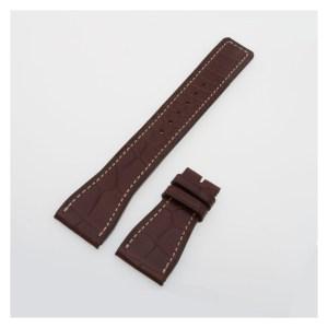 IWC matte brown alligator strap with ecru sticth (24x18) IWA50226