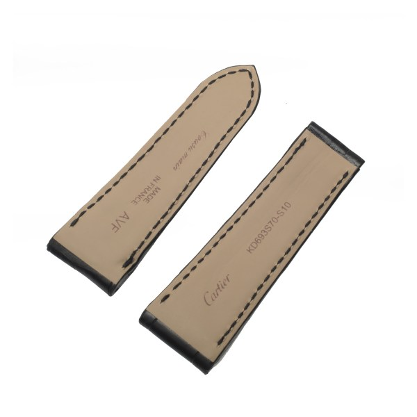 Cartier mat black hand stiched alligator strap (22mm x 18mm)