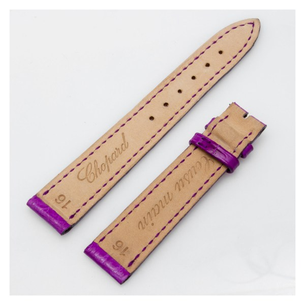 Chopard lilac color alligator strap (16mm x 13mm)