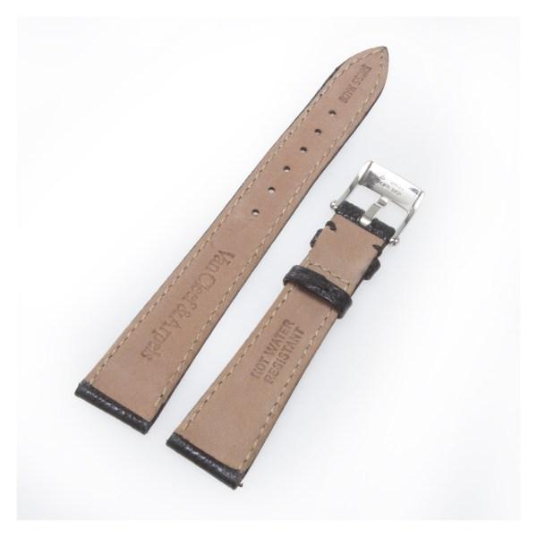Van Cleef & Arpels black lizard strap with st/s tang buckle 16mm x 12mm
