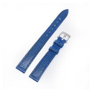 Van Cleef & Arpels blue lizard strap with stainless steel tang buckle 12mm x 10mm