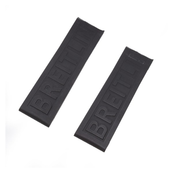 Breitling black rubber strap 22mm x 20mm