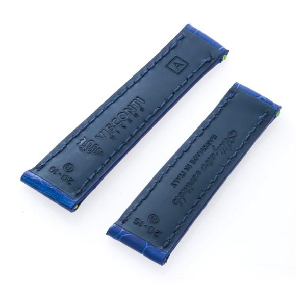 Rolex Daytona custom alligator band in blue (20x16)
