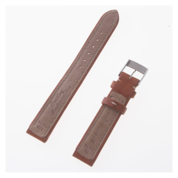 Breitling brown calfskin strap with stainless steel buckle (15x14)