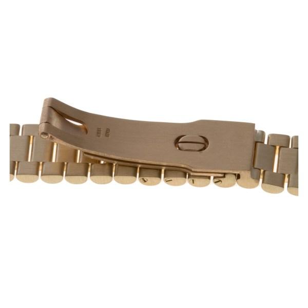 Italian 18k President style hidden clasp bracelet