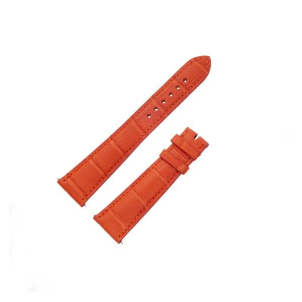 Parmigiani orange alligator strap for tang buckle (20x16)