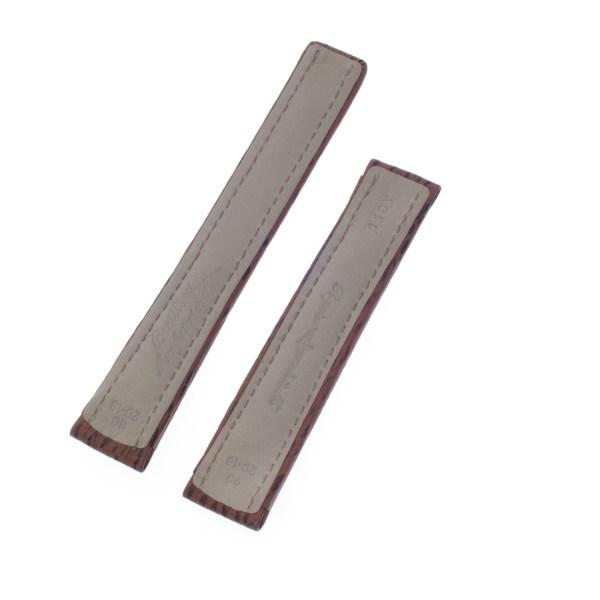 Breitling brown shark skin strap for deployant buckle (20mm x 17mm)