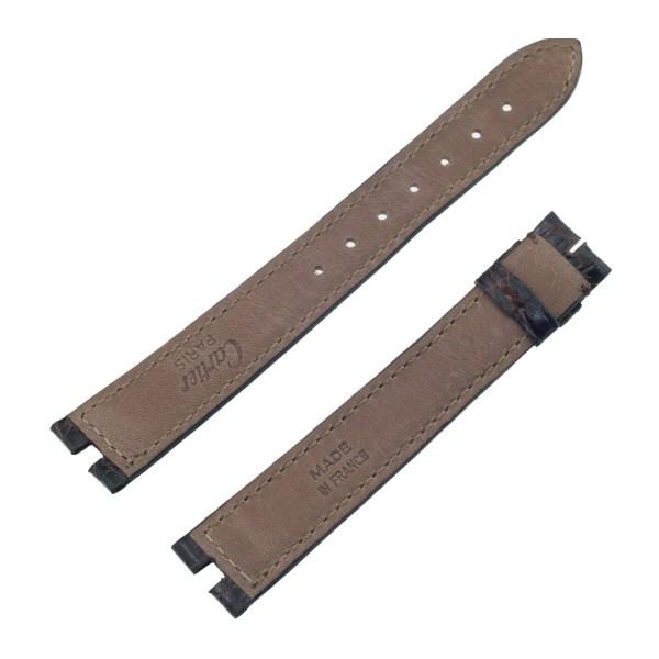 Cartier brown crocodile strap (16mm x 14mm)