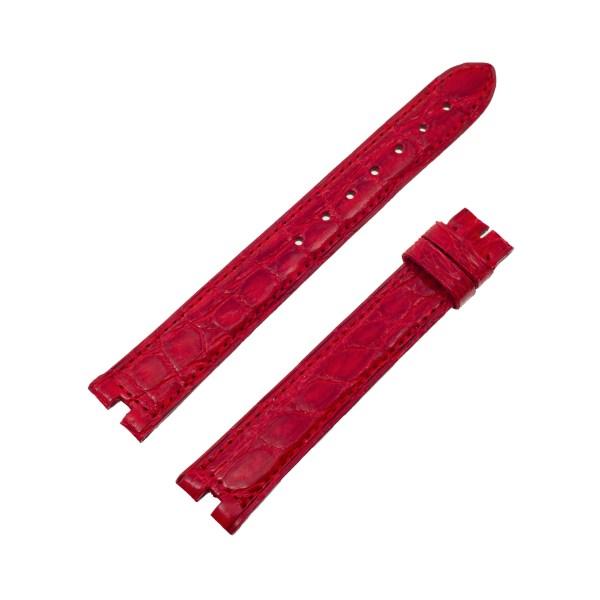 Must de Cartier shiny red crocodile strap (16mm x 14mm)