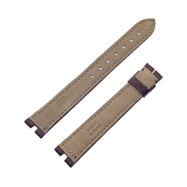 Must de Cartier brown shiny crocodile strap (16mm x 14mm)