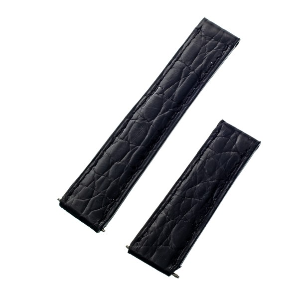 Cartier black shiny alligator band (17.5x16)