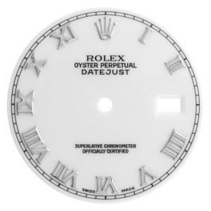 Rolex Datejust white Roman numeral dial